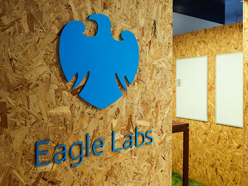 Eagle Lab Logo on Chipboard
