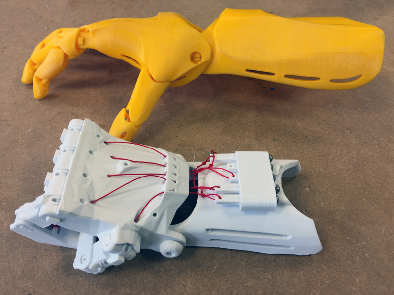 Two 3D printed Arms